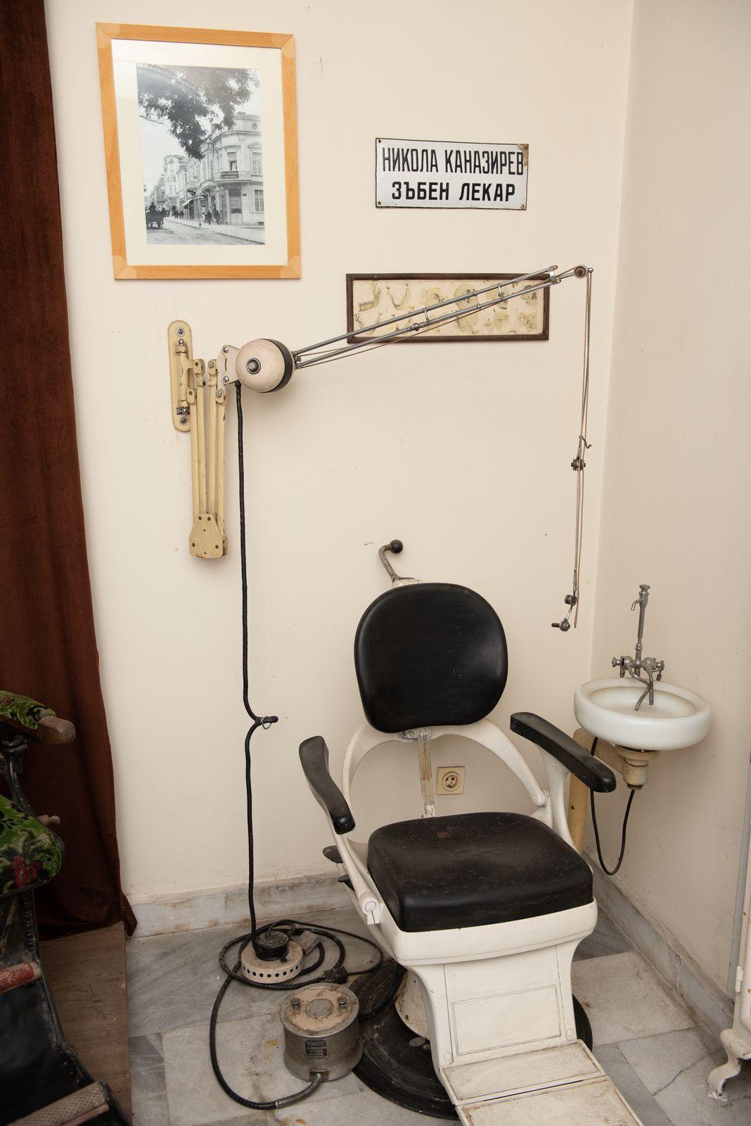 Muzei222_Възстановка на зъболекарски кабинет от средата на 20-то век