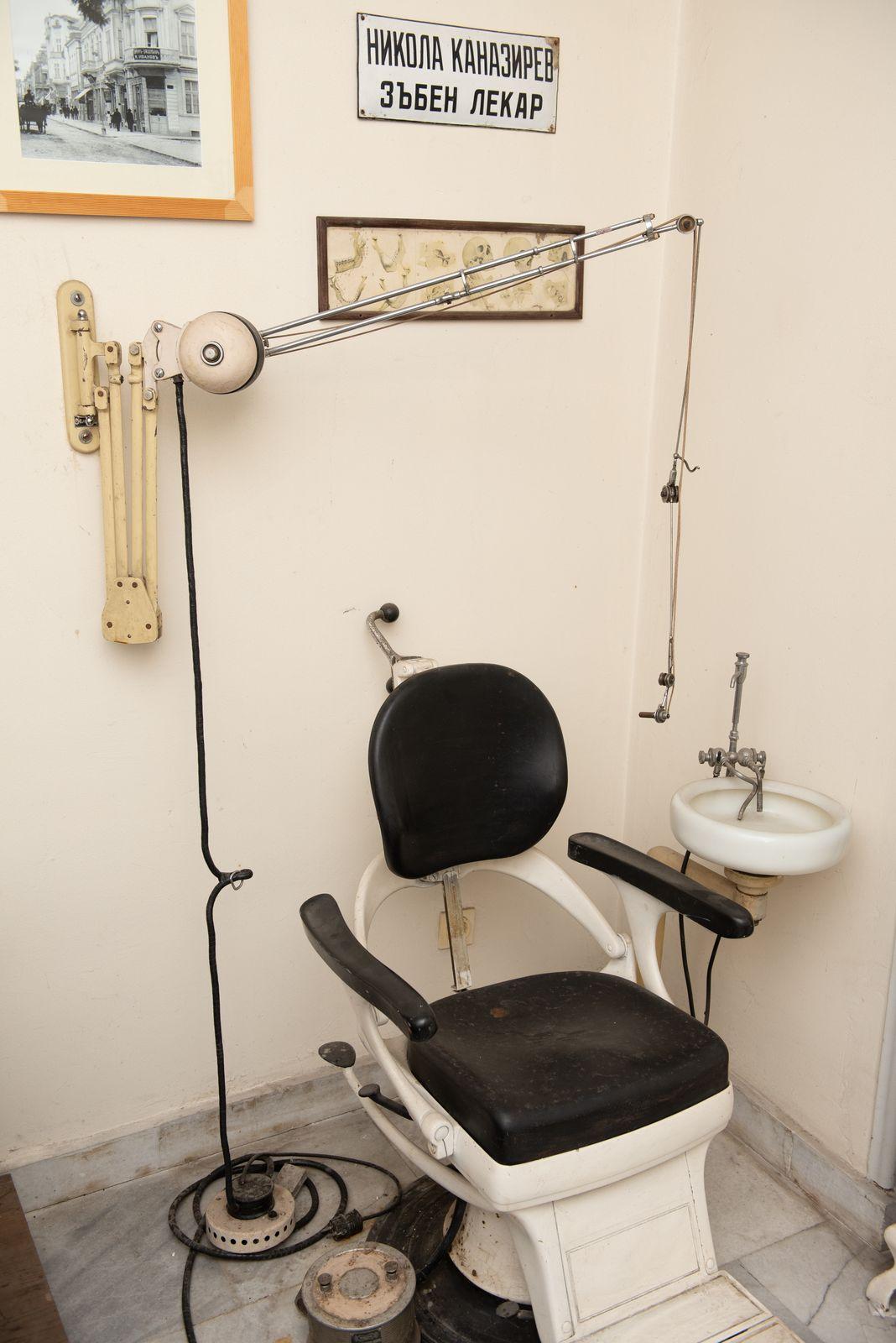 Muzei223_Възстановка на зъболекарски кабинет от средата на 20-то век