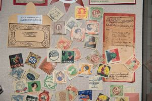 Muzei213_Опаковки за презервативи, опаковка от лекарство и рецепта от първата половина на 20-ти век